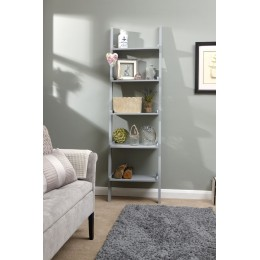 Contemporary Cyprus Grey Ladder Shelving Wall Rack Unit