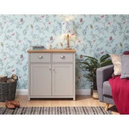 Modern Grey Lancaster Compact Living Room Sideboard