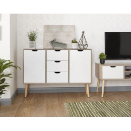 White Oak Stockholm Living Room Sideboard Storage Unit