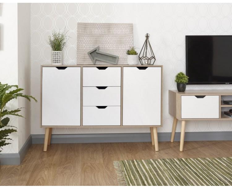 White Oak Stockholm Living Room Sideboard Storage Unit