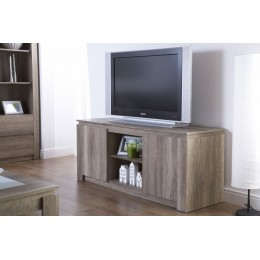 Canyon Oak Living Room Rustic 3D Oak TV Unit Stand