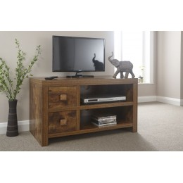 Traditional Chunky Jakarta Mango 2 Drawer TV Unit