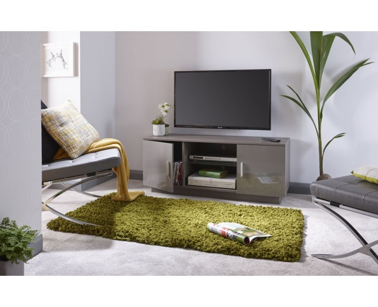 Lima High Gloss TV Unit in Grey