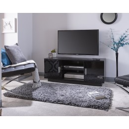 Lima TV Stand High Gloss Black with Matte Frame