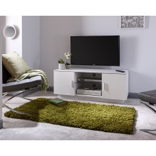 Lima Modern TV Stand High Gloss White with Matte Frame