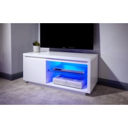 Ultra-Modern White High Gloss Polar LED TV Unit