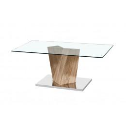 Alpha Coffee Table Oak Effect Base
