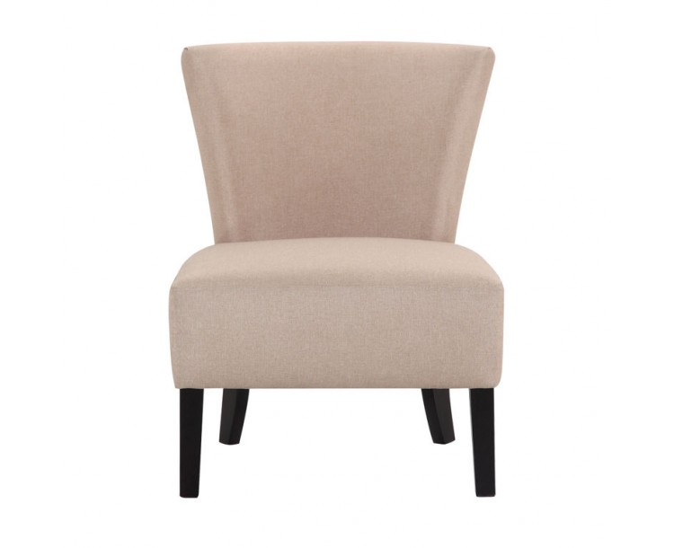 Contemporary Austen Sand Colour Linen Fabric Chair