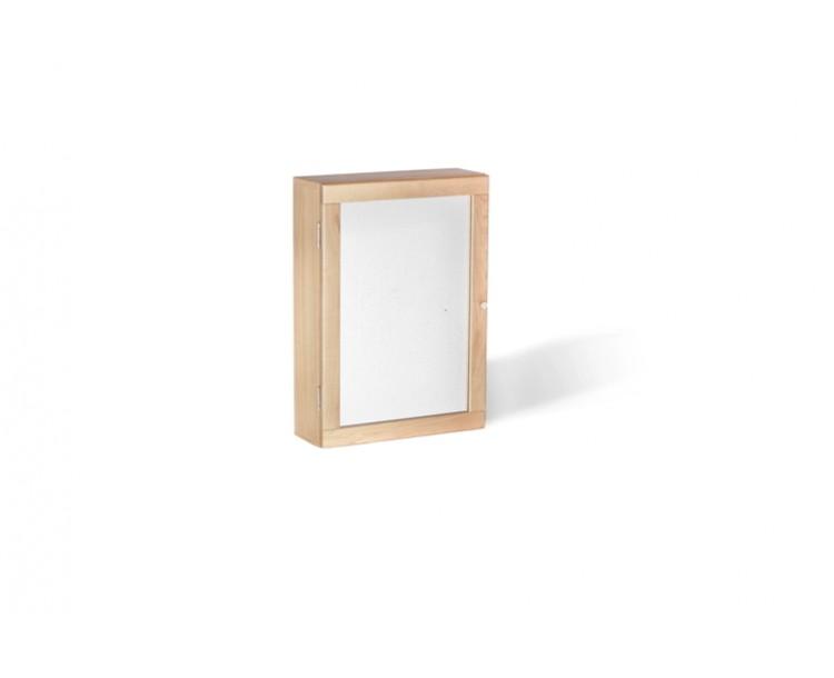 Ocean Oak Bathroom Wall Mirrored Storage Cabinet