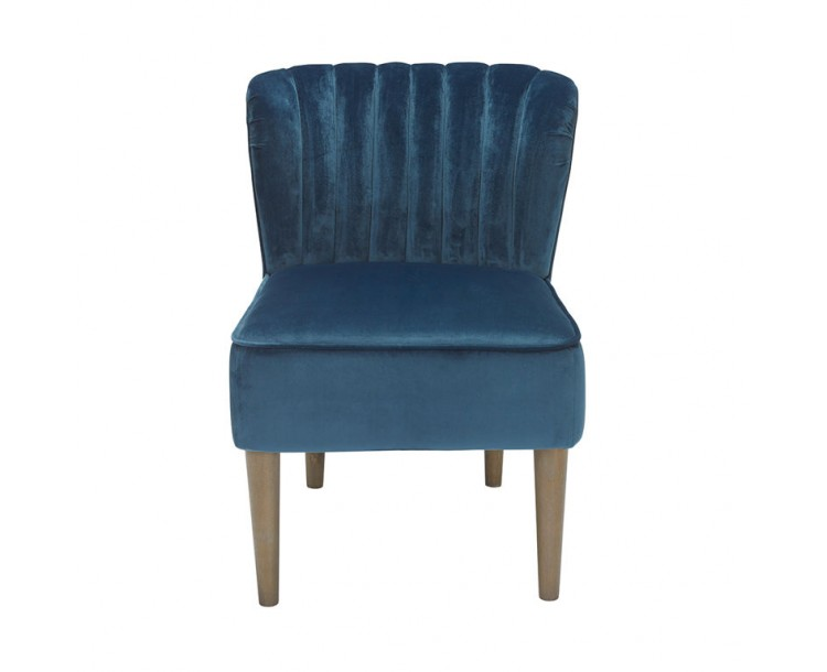 Bella Midnight Blue Soft Touch Velvet Chair