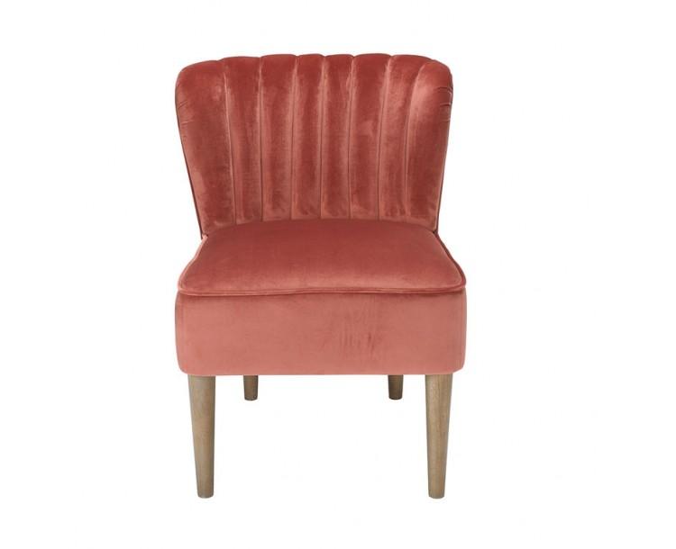 Bella Pink Vintage Velvet Chair