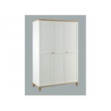 Boston 3 Door Modern Traditional Bedroom Wardrobe in White