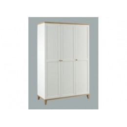 Boston 3 Door Modern Traditional Bedroom Wardrobe in White