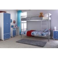 Florida Silver 3ft Single Children's Metal Bunk Bed