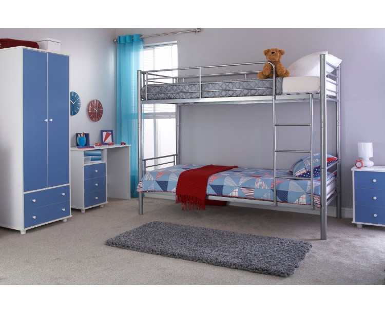 Florida Silver 3ft Single Children's Metal Bunk Bed