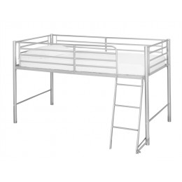 Saturn Mid Sleeper Bunk Bed 3FT Single Silver Metal Frame