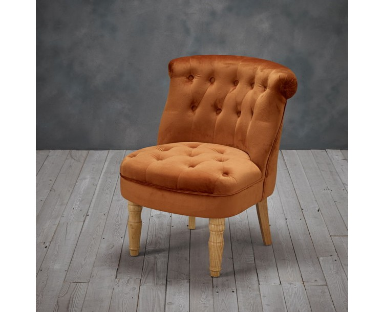 Charlotte Sophisticated Orange Chair
