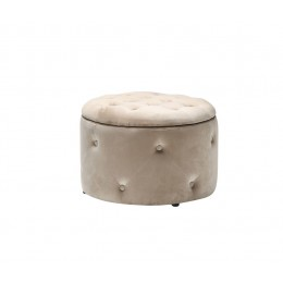 Cleo Beige Space Saving Compact Storage Pouffe