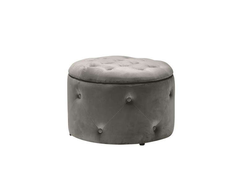 Cleo Charcoal Velvet Storage Pouffe