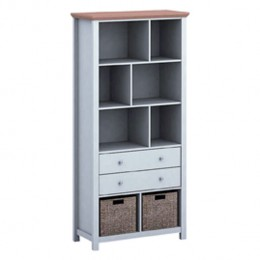 Costwold Versatile Grey Space Saving Bookcase