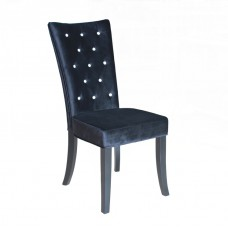 Radiance Black Velvet Dining Chair with Crystal Diamantes