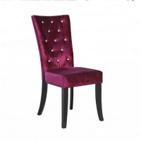 Radiance Purple Velvet Dining Chair with Crystal Diamantes