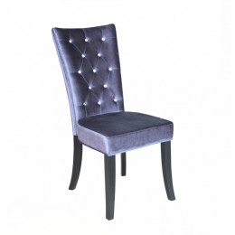 Radiance Silver Velvet Dining Chair with Crystal Diamantes