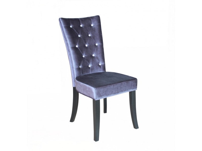 Radiance Silver Velvet Dining Chair with Crystal DiamantesSilver Velvet Dining Chair with Crystal Diamantes. Purple Leather Dining Chairs Uk. Home Design Ideas