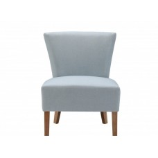 Austen Blue Contemporary Fabric Living Room Occasional Chair