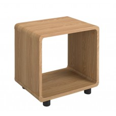 Curve Design Oak Veneer Finished Lamp End Table