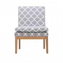 Victor Avant Garde Grey Fabric Occasional Lounge Chair