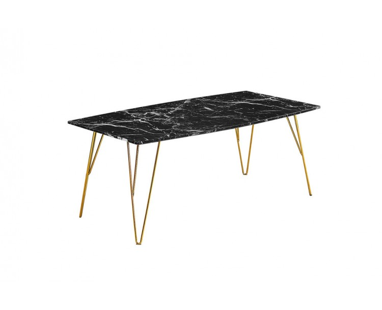Fusion Coffee Table Black Marble