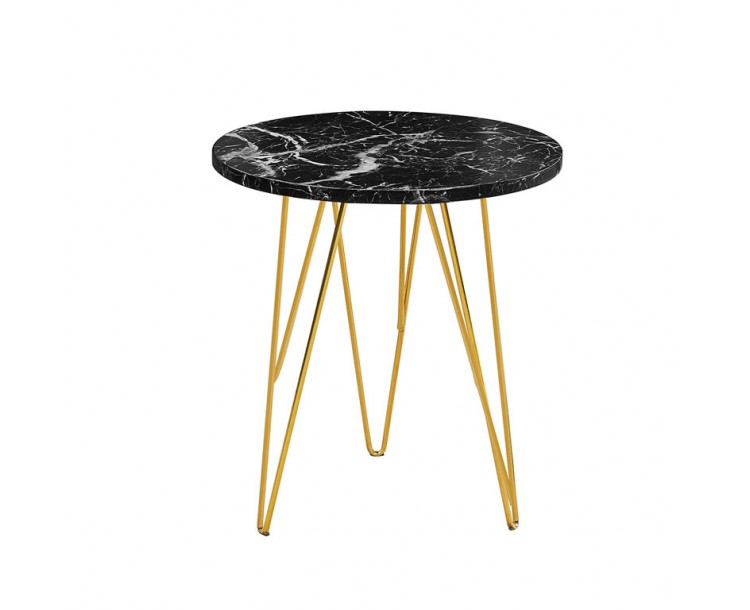Fusion Lamp Table Black Marble