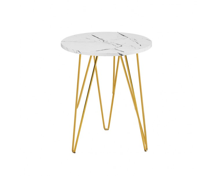 Fusion Lamp Table White Marble