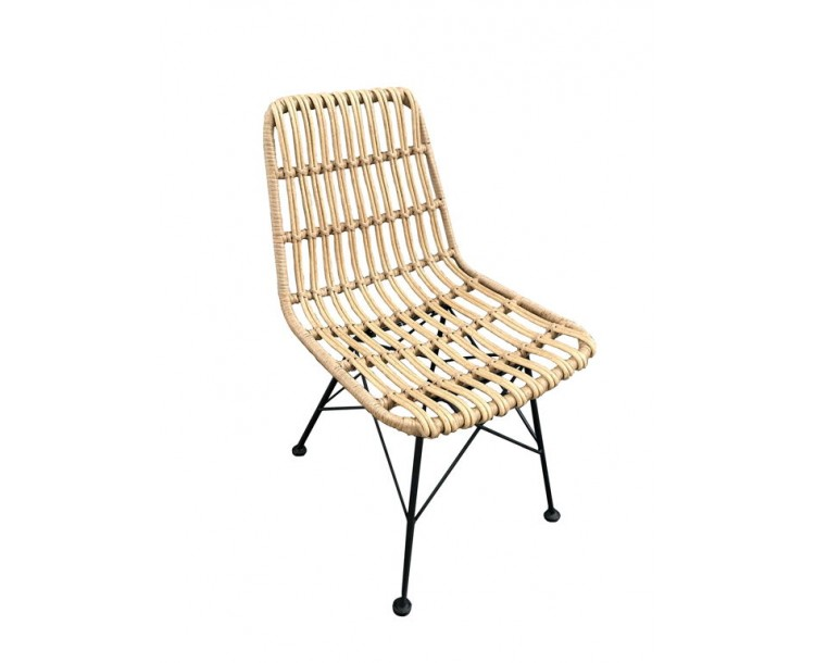 Hadley Poly Woven Rattan Dining Chair
