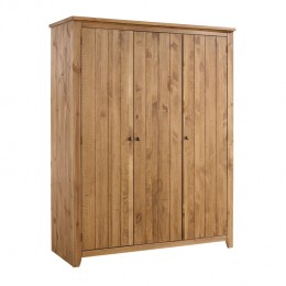 Havana Pine 3 Door Wardrobe 2 Shelves