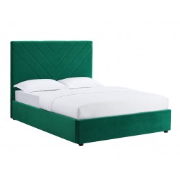 Islington Green Velvet Fabric Double Bed