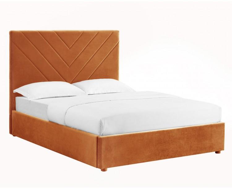 Islington Orange Sophisticated Double Bed