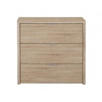 Lexington 3 Drawer Bedroom Chest Modern Oak Finish Design