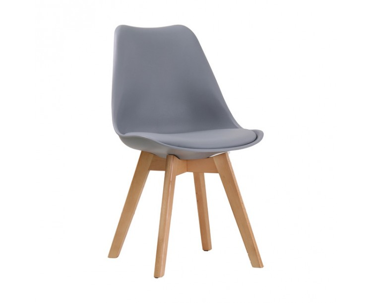 Louvre Grey ChairPadded Seat Pack of 2