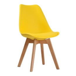 Louvre Yellow Chair Padded Seats Pack of 2