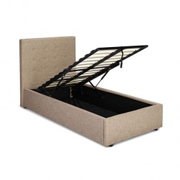 Lucca Plus 3FT Single Bed Beige