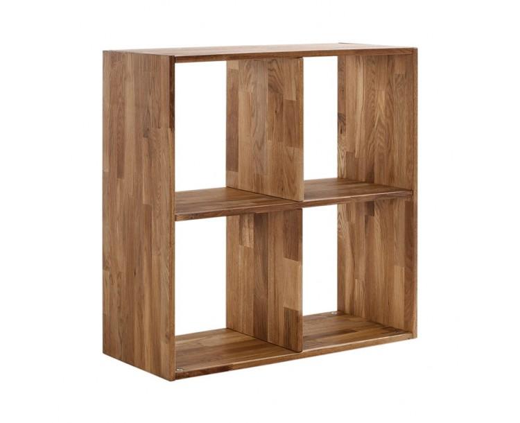 Maximo Solid Oak Cross 4 Divider Storage Unit