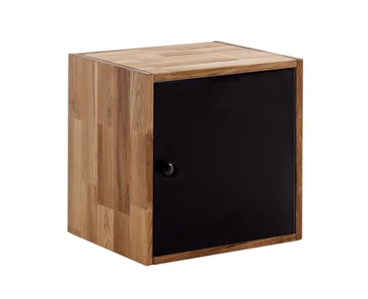 Maximo Oak Storage Range Compact Cube with Door