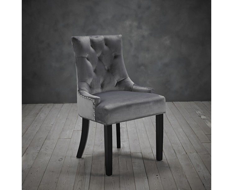 Morgan Grey Compact Chair Pack of 2