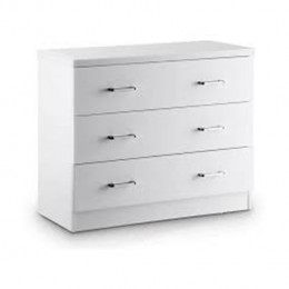 Novello 3 Drawer Chest White