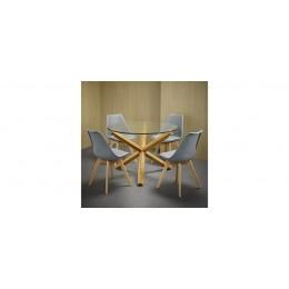 Oporto Grey Solid Oak Louvre Set