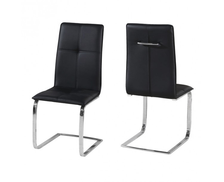 Opus Black Faux Leather Chair Pack of 2