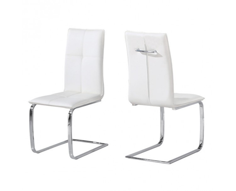 Opus Teal Faux Leather Chair White Pack of 2