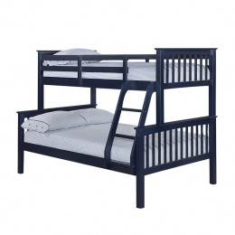 Otto Trio Pine Contemporary Bunk Bed Navy